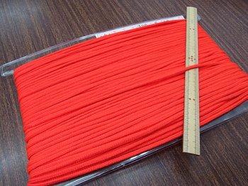 アクリルひも 明るい赤 太さ約3mm 1反約50m