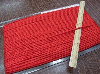 アクリルひも 赤 太さ約3mm 1反約50m