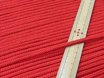 アクリルひも 赤 太さ約3mm 1反約50m 【参考画像1】