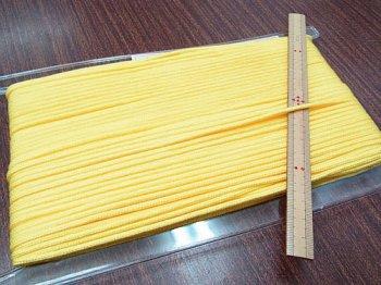アクリルひも 黄色 太さ約3mm 1反約50m