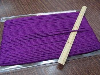 アクリルひも 紫 太さ約3mm 1反約50m