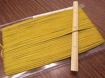 アクリルひも 黄土色 太さ約3mm 1反約50m