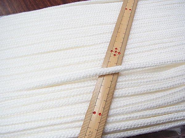 アクリルひも 白 太さ約5x3mm 1反約50m 【参考画像1】