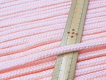 アクリルひも 薄ピンク 太さ約5x3mm 1反約50m
