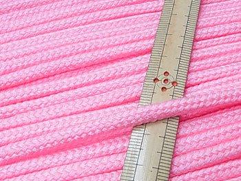 アクリルひも ピンク 太さ約5x3mm 1反約50m
