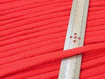 アクリルひも 明るい赤 太さ約5x3mm 1反約50m