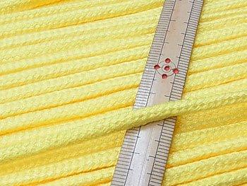 アクリルひも 黄色 太さ約5x3mm 1反約50m
