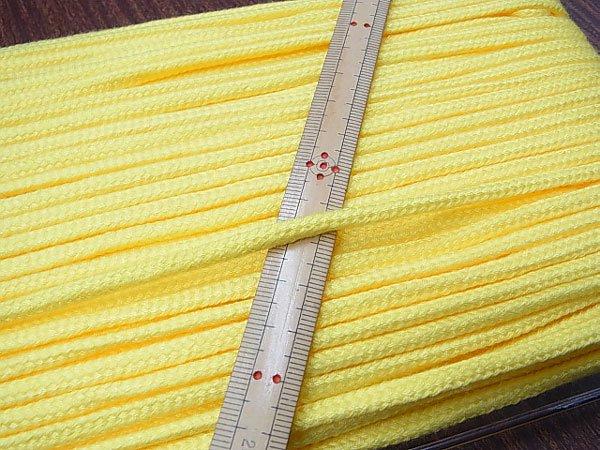 アクリルひも 黄色 太さ約5x3mm 1反約50m 【参考画像1】