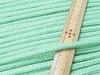 アクリルひも ミント系 太さ約5x3mm 1反約50m