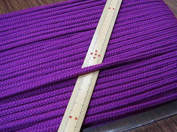 アクリルひも 紫 太さ約5x3mm 1反約50m 【参考画像1】