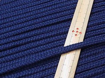 アクリルひも 濃紺 太さ約5x3mm 1反約50m