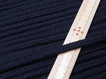 アクリルひも 黒 太さ約5x3mm 1反約50m