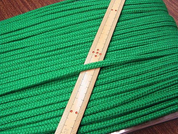 アクリルひも 緑 太さ約5x3mm 1反約50m 【参考画像1】