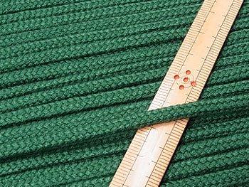 アクリルひも 深緑 太さ約5x3mm 1反約50m