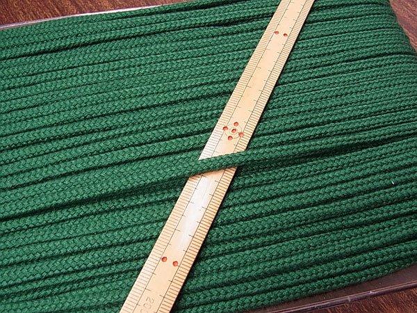 アクリルひも 深緑 太さ約5x3mm 1反約50m 【参考画像1】