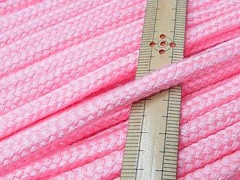 アクリルコード スピンドル紐 ピンク 太さ約7x4mm 1反約25m