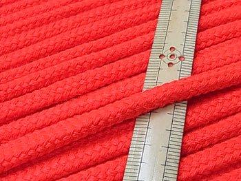 アクリルコード スピンドル紐 明るい赤 太さ約7x4mm 1反約25m