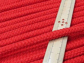 アクリルコード スピンドル紐 赤 太さ約7x4mm 1反約25m
