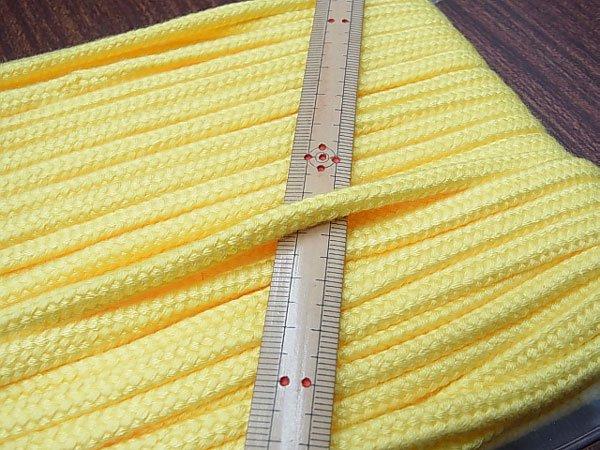 アクリルコード スピンドル紐 黄色 太さ約7x4mm 1反約25m 【参考画像1】