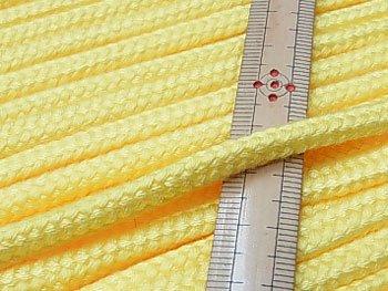 アクリルコード スピンドル紐 黄色 太さ約7x4mm 1反約25m