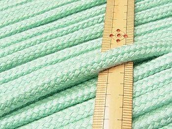 アクリルコード スピンドル紐 ミント系 太さ約7x4mm 1反約25m
