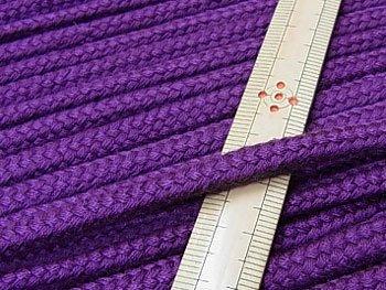 アクリルコード スピンドル紐 紫 太さ約7x4mm 1反約25m
