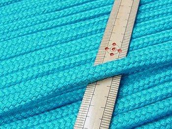 アクリルコード スピンドル紐 あさぎ色 太さ約7x4mm 1反約25m