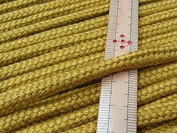 アクリルコード スピンドル紐 黄土色 太さ約7x4mm 1反約25m