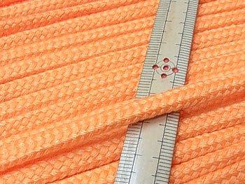 アクリルコード スピンドル紐 オレンジ 太さ約7x4mm 1反約25m