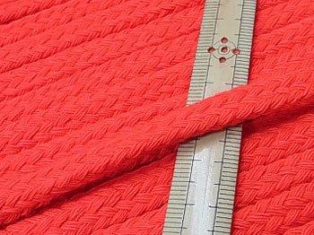 アクリルひも スピンドル紐 明るい赤 太さ約9x5mm 1反約25m