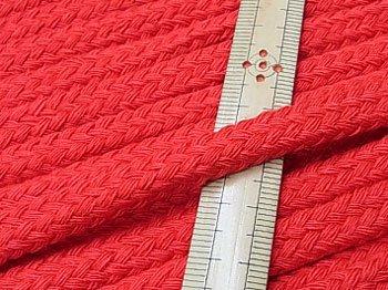 アクリルひも スピンドル紐 赤 太さ約9x5mm 1反約25m