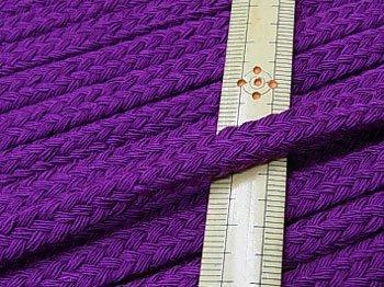 アクリルひも スピンドル紐 紫 太さ約9x5mm 1反約25m