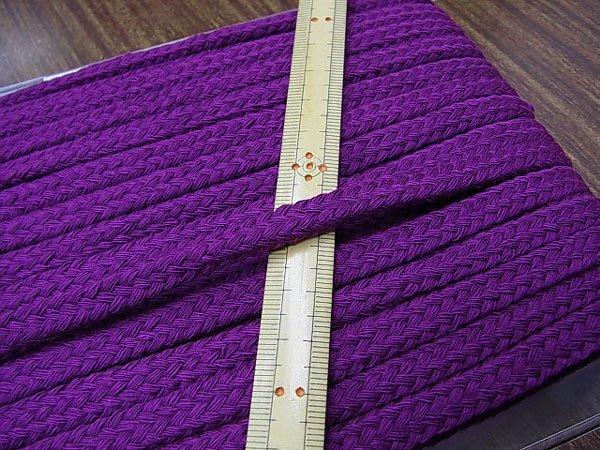 アクリルひも スピンドル紐 紫 太さ約9x5mm 1反約25m 【参考画像1】