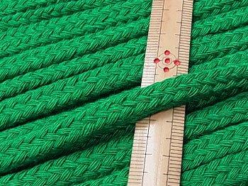アクリルひも スピンドル紐 緑 太さ約9x5mm 1反約25m