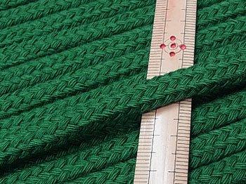 アクリルひも スピンドル紐 深緑 太さ約9x5mm 1反約25m