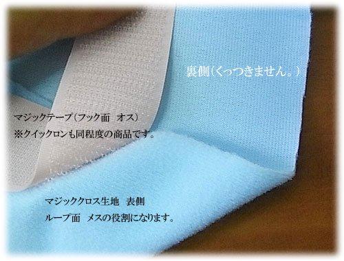 YKK クイックロン (面ファスナー オス) 918 青 25mm幅 【参考画像3】