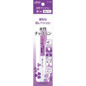 クロバー 24-428 水性チャコペン 紫 細・消しペン 5本セット