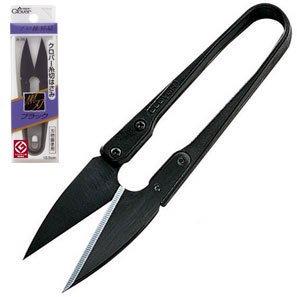 クロバー 36-395 糸切はさみ ブラック 黒刃10.5cmx5丁セット