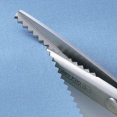 クロバー 36-632 「ホビー」 ピンキングはさみ P180 ギザ刃5mm 19cmx5丁セット 【参考画像1】