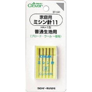 クロバー 37-141 家庭用ミシン針 11(普通生地用)  5本入×5袋セット