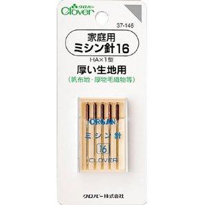 クロバー 37-146 家庭用ミシン針 16(厚い生地用)  5本入×5袋セット