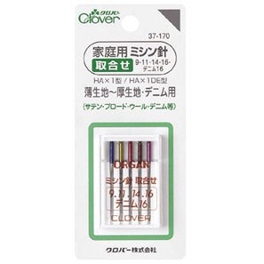 クロバー 37-170 家庭用ミシン針 取り合わせ  5本入×5袋セット