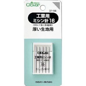 クロバー 37-186 工業用ミシン針 16 (厚い生地用) 5本入× 5袋セット