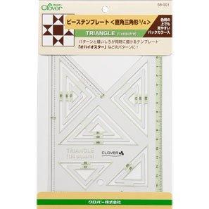 クロバー 58-001 ピーステンプレート 直角三角形1/4 5袋セット