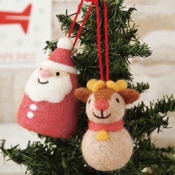 ハマナカ フェルト羊毛キット クリスマスオーナメント サンタ・トナカイ H441-399