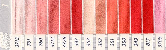 DMC刺繍糸 25番 ピンク・赤色系 1 【参考画像2】