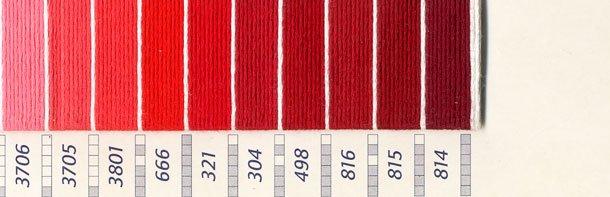 DMC刺繍糸 25番 ピンク・赤色系 1 【参考画像3】