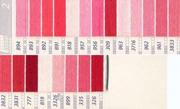 DMC刺繍糸 25番 ピンク・赤色系 2
