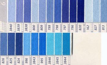 DMC刺繍糸 25番 紫・青色系 2