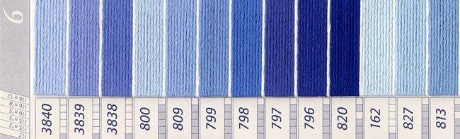 DMC刺繍糸 25番 紫・青色系 2 【参考画像2】